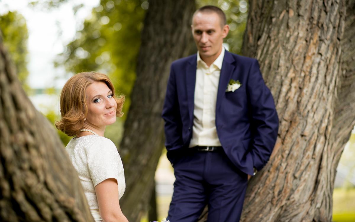 Свадебная прогулка в Таврическом саду: Екатерина и Сергей