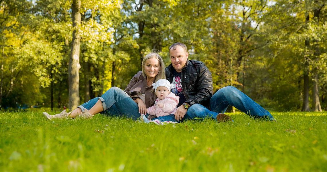 семейная фотосессия в парке спб